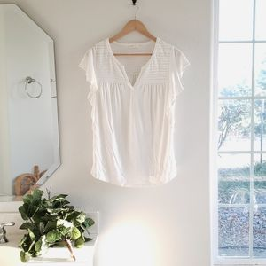 Anthropologie Meadow Rue White Top Size Small